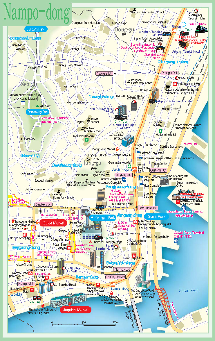 Subway Map Of Busan.Map Of Busan Airports City Maps